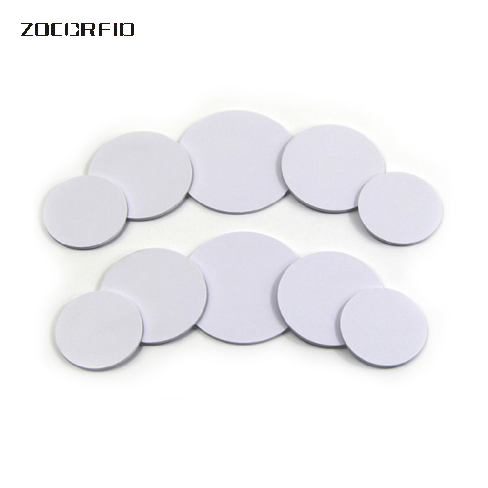 50pcs Ntag213/S50 NFC Tags Phone Available Adhesive Labels RFID Tag Coin Holder Capsules Box Storage Clear Round Display