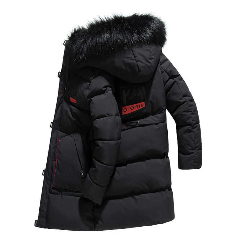 b9c96c872f81 -30 градусов Для мужчин 2018 зима длинный толстый хлопок куртка пальто Для  мужчин с капюшоном