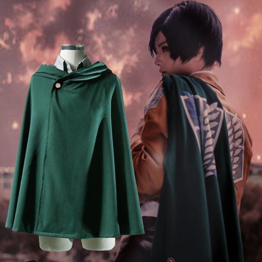 Attack On Titan Cloak Cosplay Costume Anime Eren Jager Scouting Corps Cos Shingeki No Kyojin Legion Coat Plus Size for Hallowee