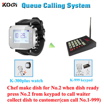 Paging System Keyboard Wireless Restaurant Caller Watch Calling Vibrate Queue System