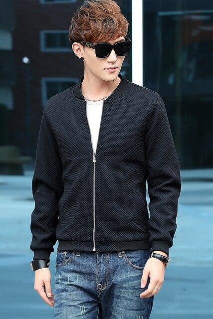 Mwxsd brand autumn men Slim fit knit jacket mens plaid bomber jacket hombres chaqueta jaqueta plus size M-4xl