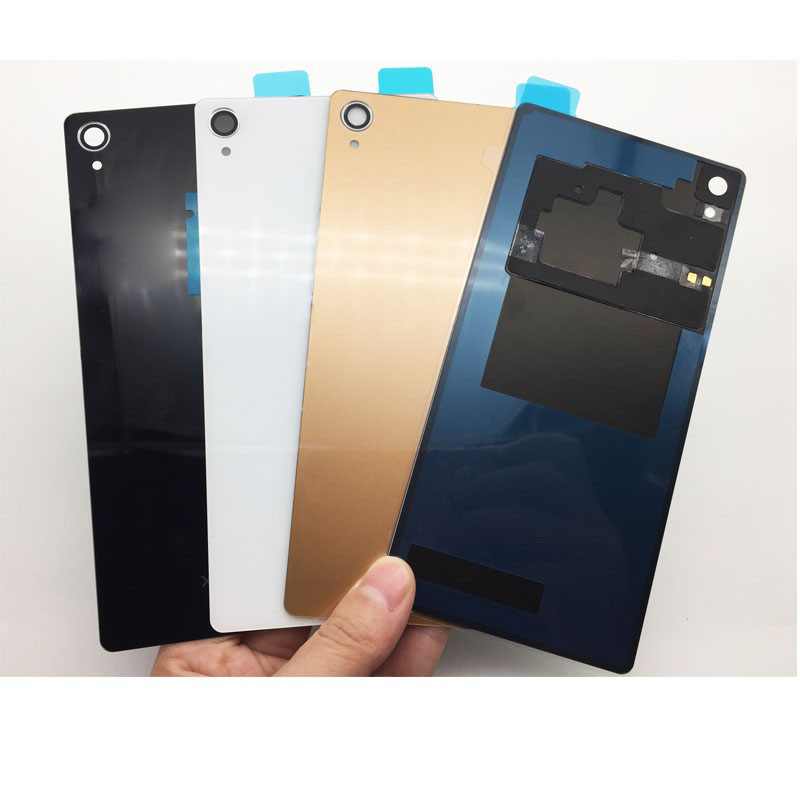 New Back Battery Cover Door Rear Glass For Sony Xperia Z3 L55T D6603 D6643 D6653 D6633 Housing With NFC Connector