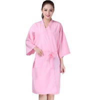 Salon Client Gown Robe Smock Kimono Hairdressing Cape Dress Beauty SPA Hotel Barber Guest Clothes Nignt Gown Wrap