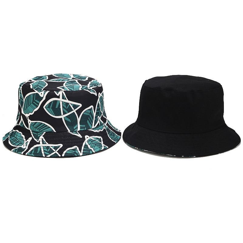 Print Maple Leaf Panama Bucket Hat Women Men Street Hip Hop Cap Couple Flat Fisherman Hat Summer Sunscreen Cap