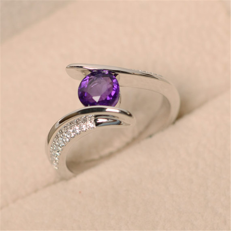 1pcs Wholesale Lots Bulk Korean Silver Color Round Cubic Zirconia Band Rings for Women Finger Rings Jewelry in Rings from Jewelry Accessories