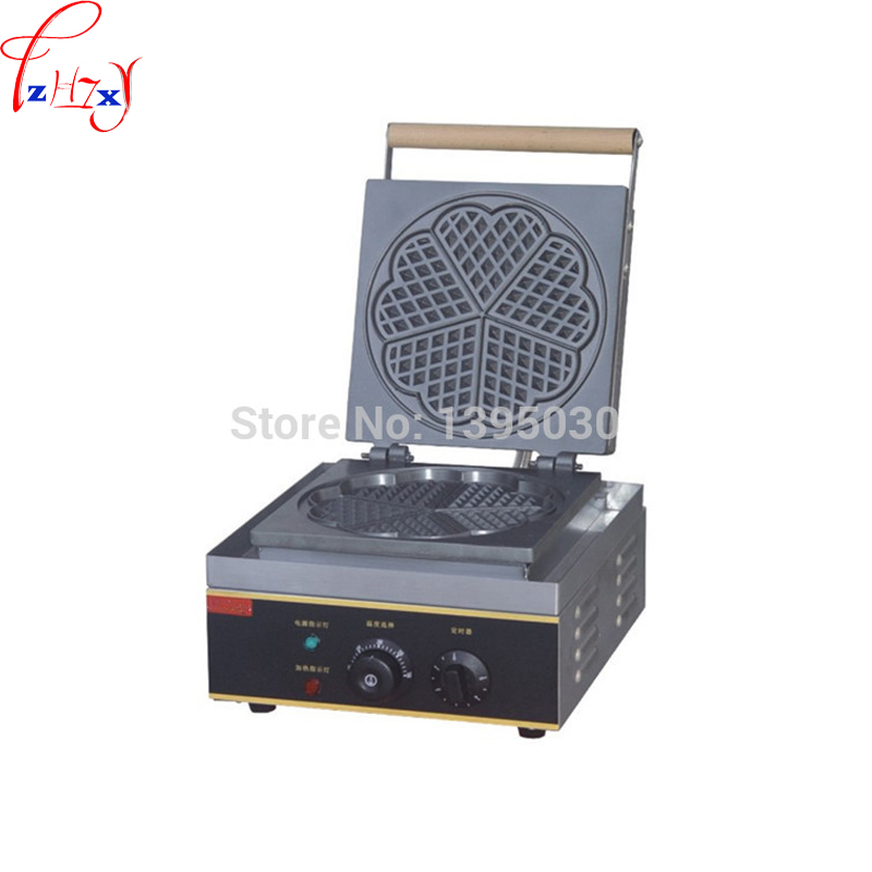 1pc FY-215 Baker Heart Shape Mould Plaid Cake Furnace Sconced Machine Electric Waffle Maker Heating Machine 110/220V