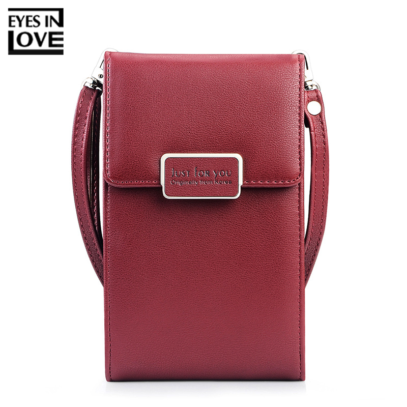 купить EYES IN LOVE Brand Small Women Shoulder Bag Soft Leather Ladies Mini Crossbody Cell Phone Pocket Card Case Female Messenger Bags недорого