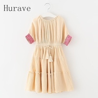 Fashion Girls Shoulderless Dress Summer Casual Girls Clothing Children Beautiful Infantil Dress