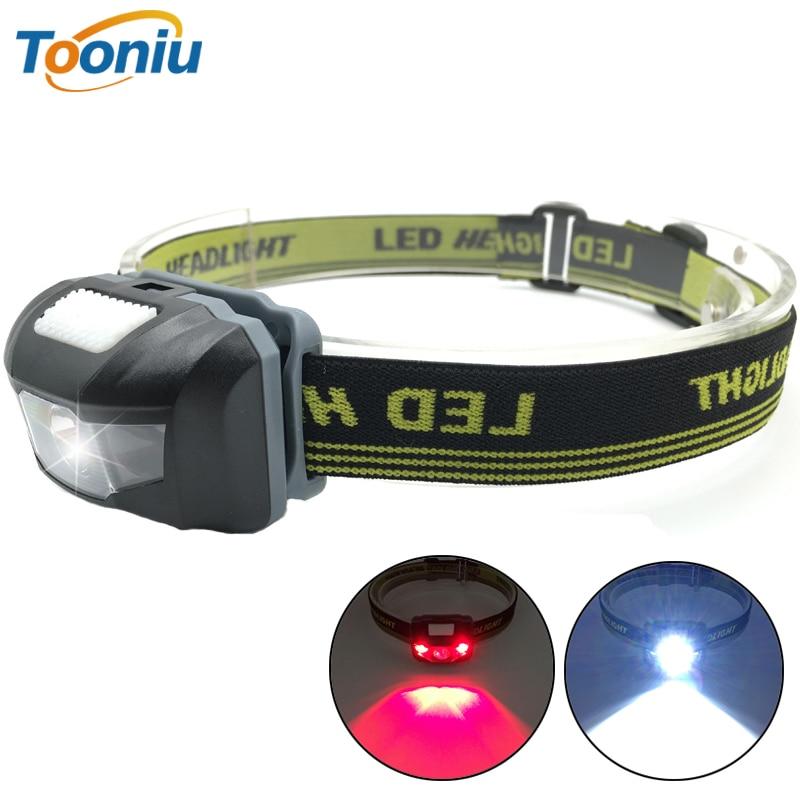 LED Headlight Head Bike Lamp Light Infrared Ray Mini Waterproof 600Lm 4 Modes R3+2 LED 3xAAA Headlamp With Headband