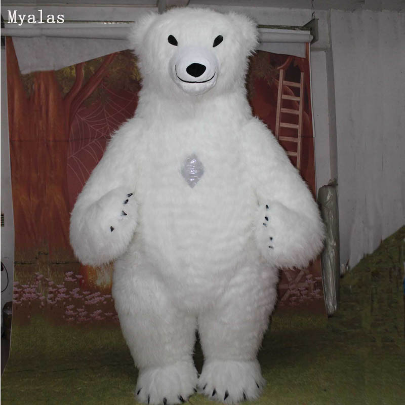 Inflatable Polar Bear Costume 3M Tall Mascot Costume For Adult Polar Bear Advertising Customize For Fantasias Homem Adulto