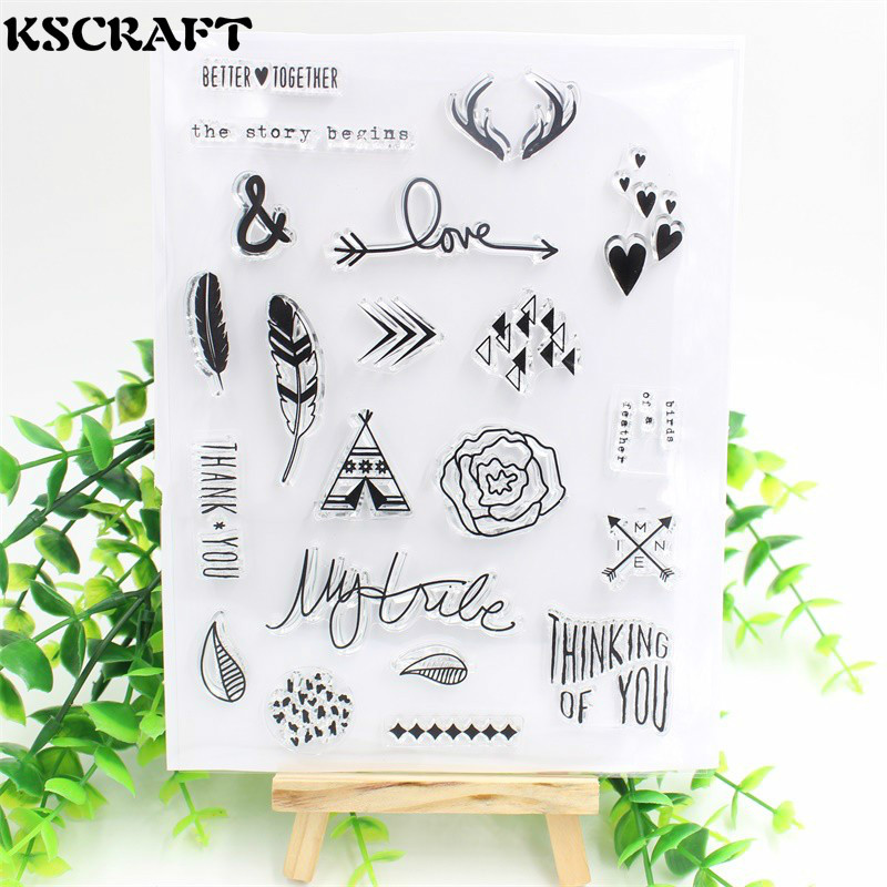 KSCRAFT The Story Begins Transparent Clear Silicone Stamp/Seal for DIY scrapbooking/photo album Decorative clear stamp sheets kscraft love travelling transparent clear silicone stamp seal for diy scrapbooking photo album decorative clear stamp sheets