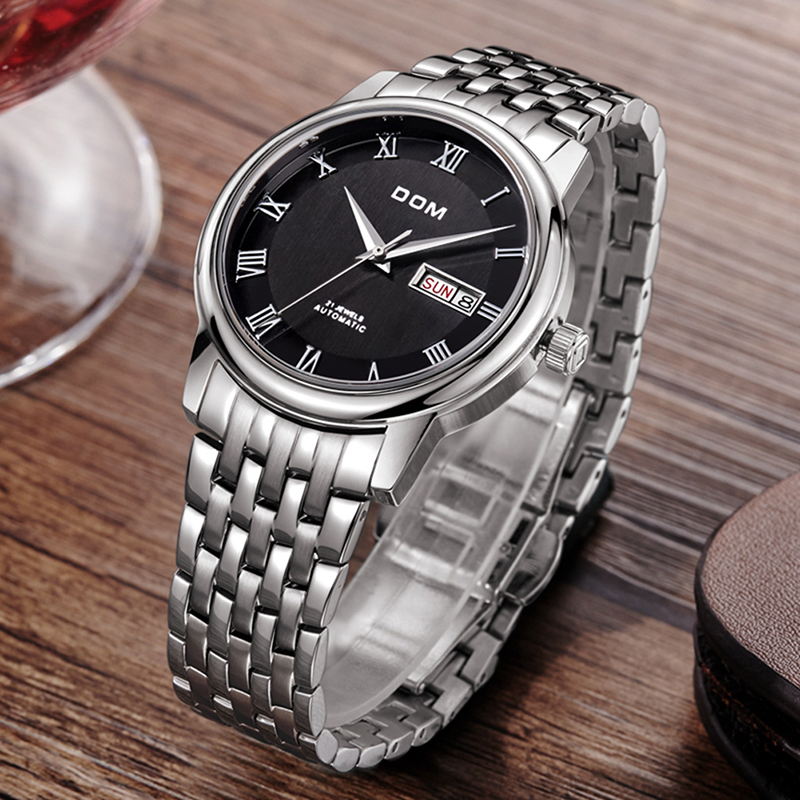 DOM Mens Quartz Analog Watch Luxury Fashion Sport Wristwatch Waterproof Stainless Male Watches Clock Relogio Masculino цена и фото