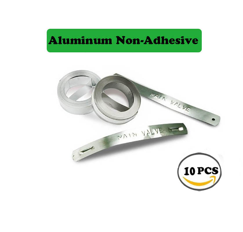 10PKS DYMO Goffratura Alluminio Non-Adesivo per il 3D 31000 Metallo stampanti di etichette nastri 12mm * 4.8 m goffratura