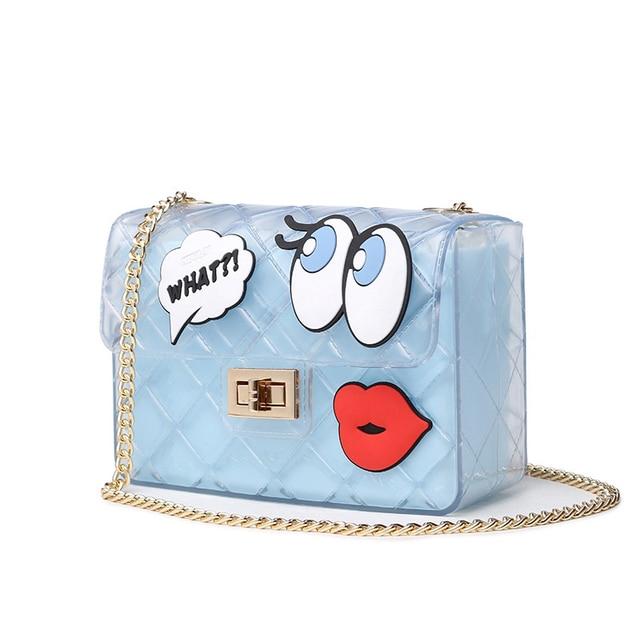 Transpa Jelly Bag Women Brands Cute Candy Messenger Beach Bags S Clear Graffiti Red