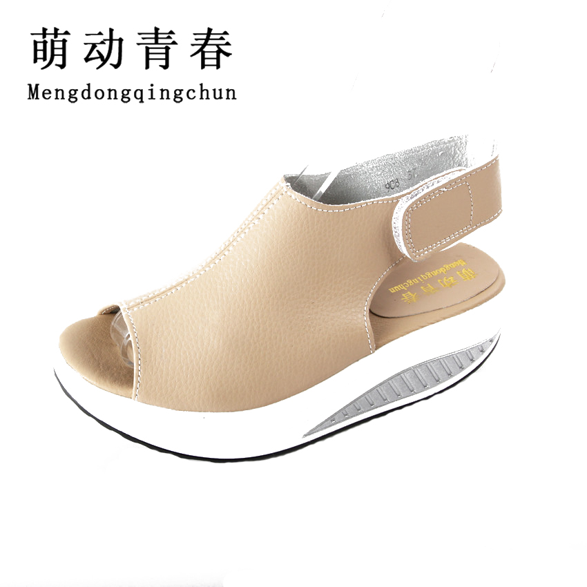 2017 New Super Star Brand Women Shoes Summer Platform Wedges Women Sandals Casual Peep Toe Swing Shoes  Sandals Walk Shoes phyanic 2017 gladiator sandals gold silver shoes woman summer platform wedges glitters creepers casual women shoes phy3323