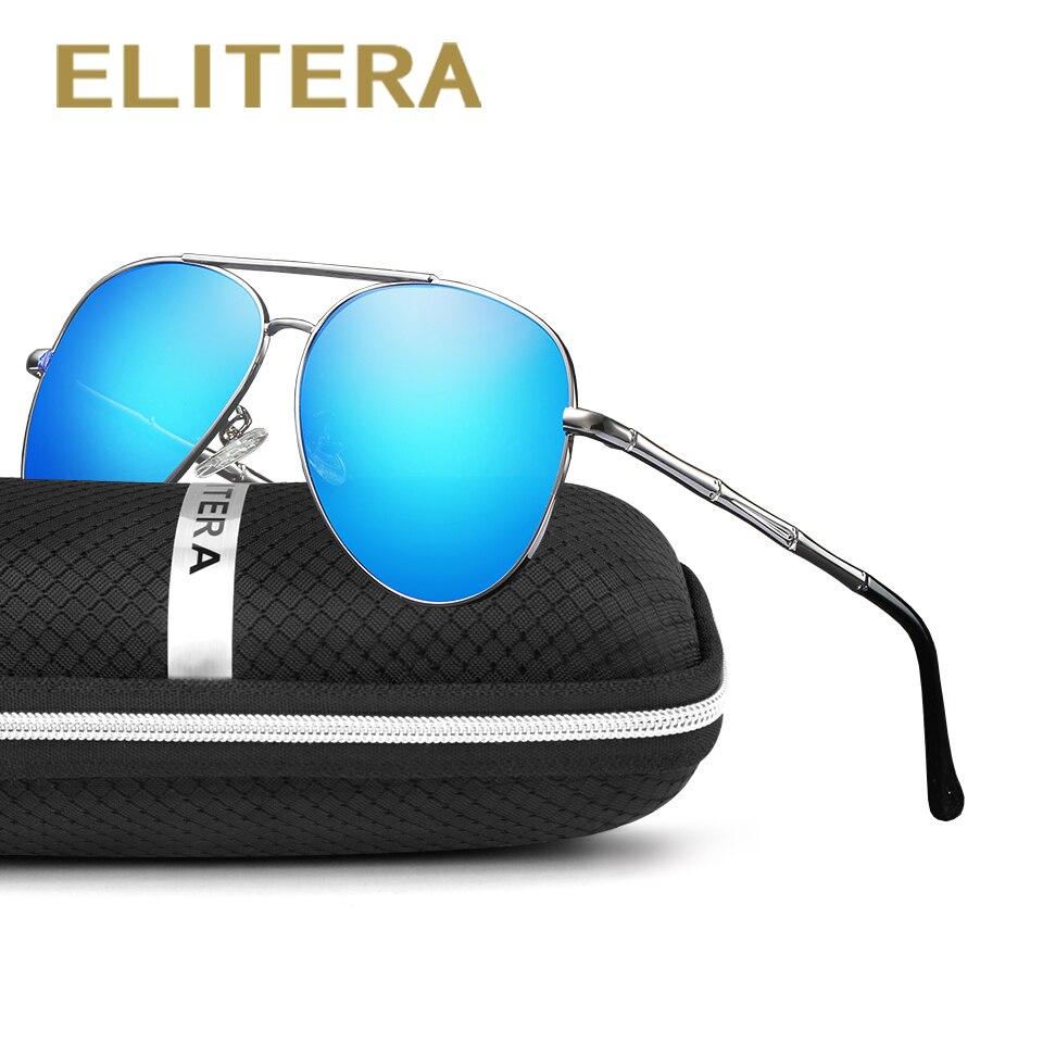 c21d3e0b25 ELITERA de alta calidad de marca de diseñador piloto gafas de sol hombres  Retro Vintage conducción gafas de sol para hombres gafas tonos UV400