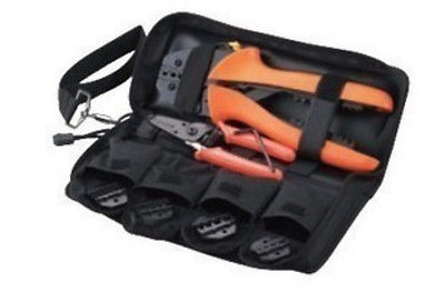 Ratcheting Terminal Crimper Kit with 4 Dies 0.5 35mm GQ