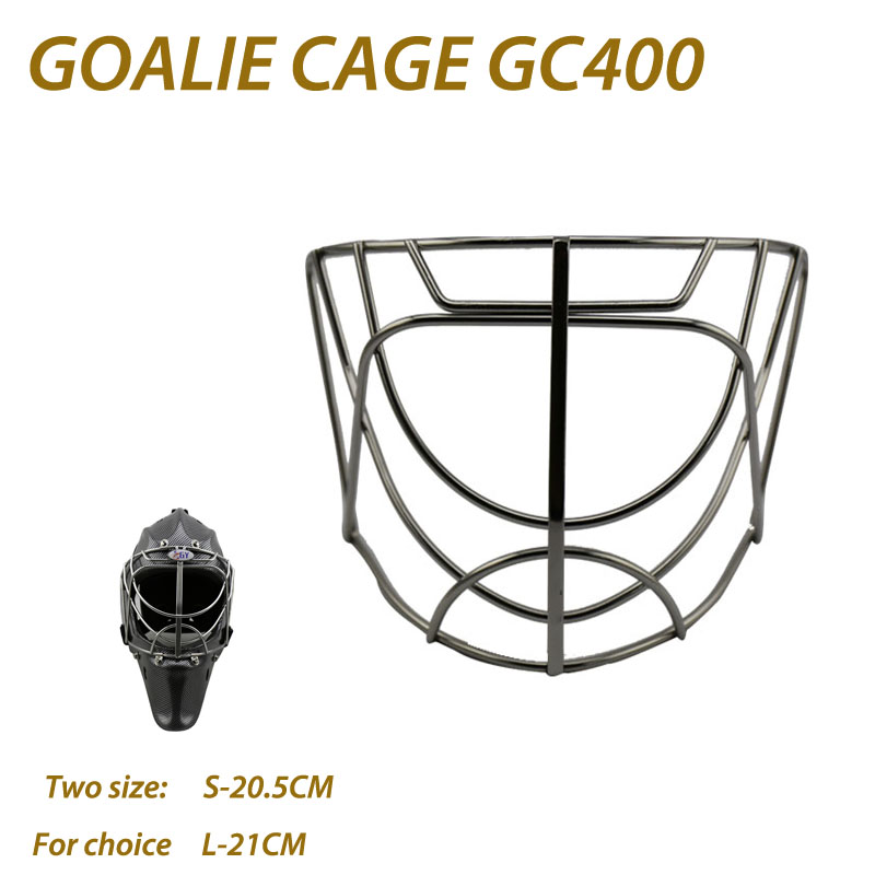 GY GC400 CE Approval Face Protective Equipment 304 Stainless Steel Cat-Eye Ice Hockey Goalie Mask Hockey Goalie Helmet Cage fashion baby girl t shirt set cotton heart print shirt hole denim cropped trousers casual polka dot children clothing set