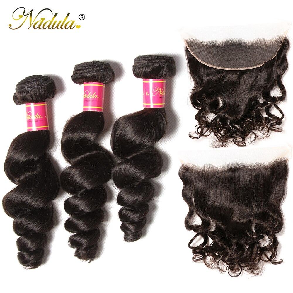 NADULA HAIR Loose Wave Bundles With Frontal   Bundles With Frontal Closure  Bundles With Closure 3