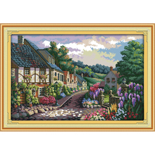 Everlasting love The Mediterranean scenery (2)  Chinese cross stitch kits Ecological cotton stamped 11CT Christmas New promotion