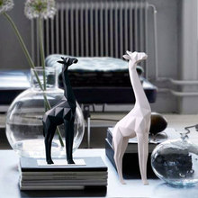 Modern Creative Resin Deer Statue  Home Decor Geometry Crafts Industrial decoration Animal Figurine Gifts home