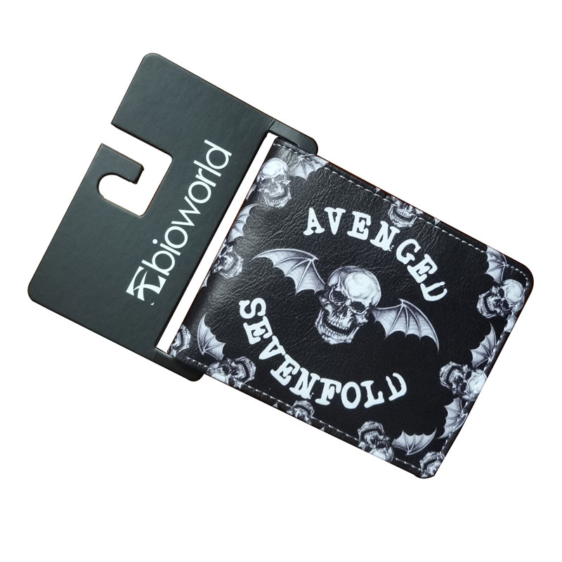 Portable and Durable Anime Wallets Avenged Sevenfold Purse New Designer Card Money Bags carteira Casual Leather Short Wallet цена