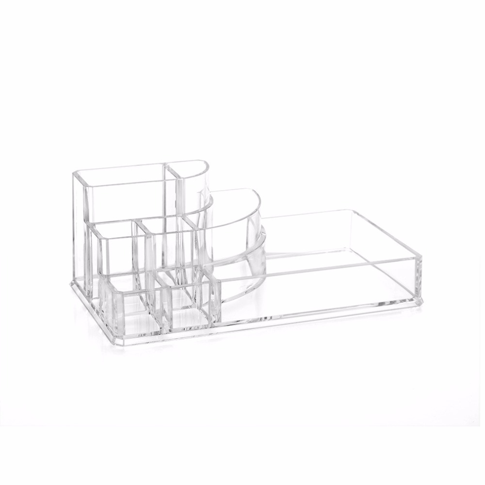 Clear acrylic organizer makeup tools holder for lipstick Nail Polish Eyeliner cosmetic brush jewelry case desktop storage box