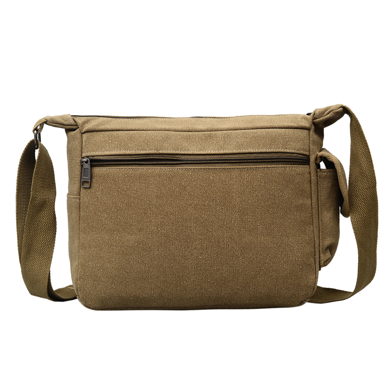 Canvas Hobo Style Travel Messenger Bag - Multi Pocket 2