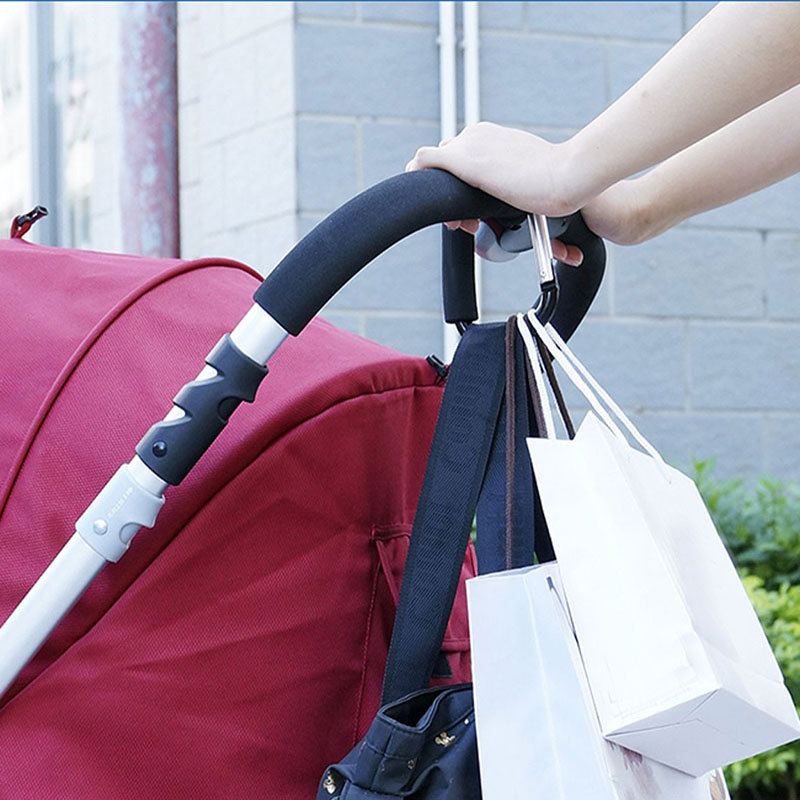 Baby Trendy Pushchair Bag Diaper Hanger Stroller Clip Hook Buggy Pram Carabiner