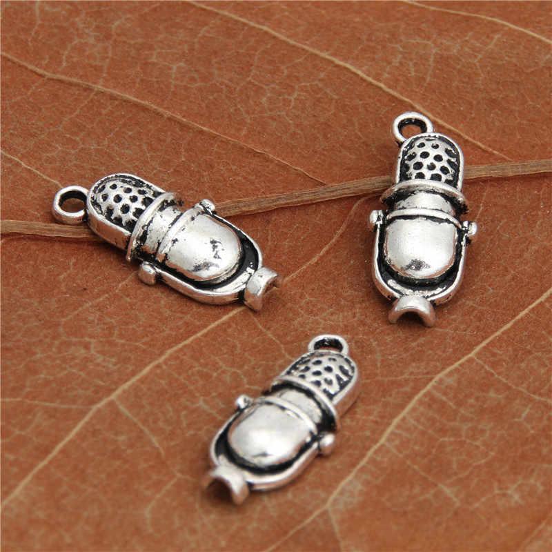 20 штук микрофон браслет или ожерелье с шармами кулон подвески для Аксессуары для ювелирных изделий поделка рукоделие 20x9 мм A2933