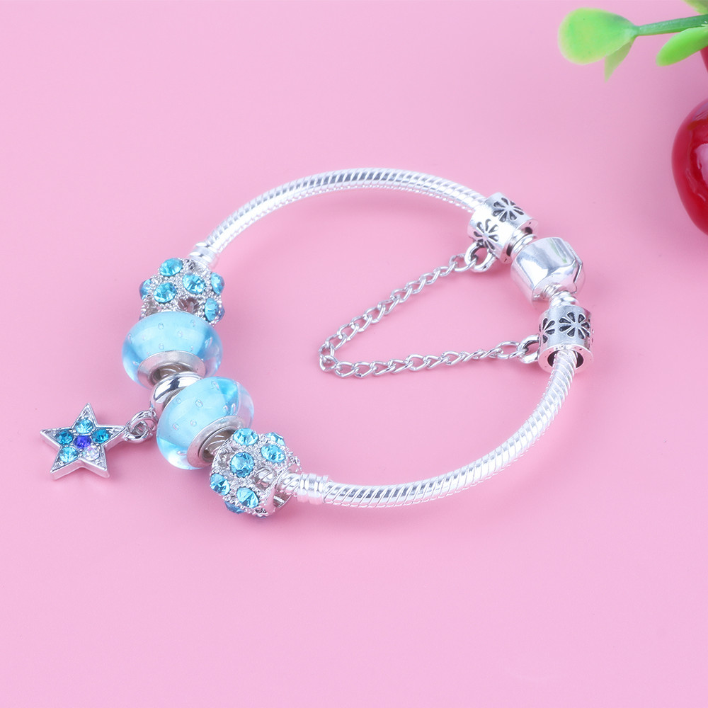 Ranqin New Star Pendant Light Blue Glass Beads Safety ...