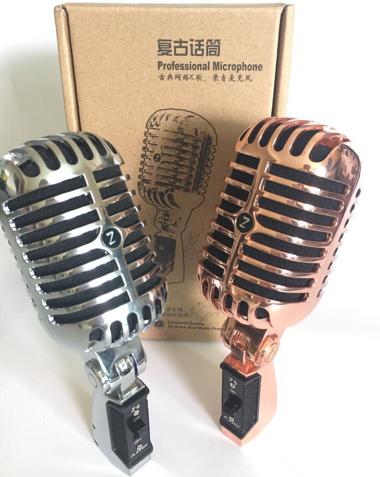 VM-60 profissional girando microfone do vintage microfones dinâmicos clássicos microfone retro para transmissão vocal & concerto