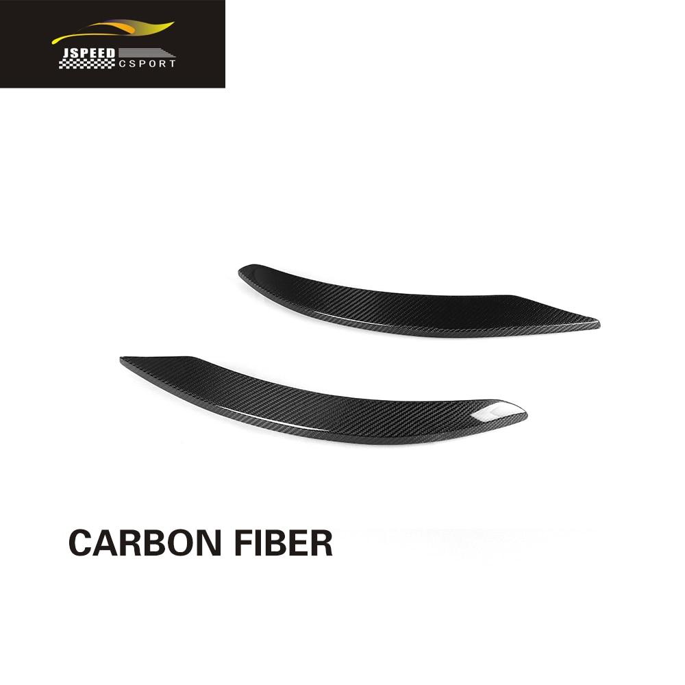 För C43 kolfiber bakre stötfångare Sidokanaler Splitter för Benz - Reservdelar och bildelar - Foto 3