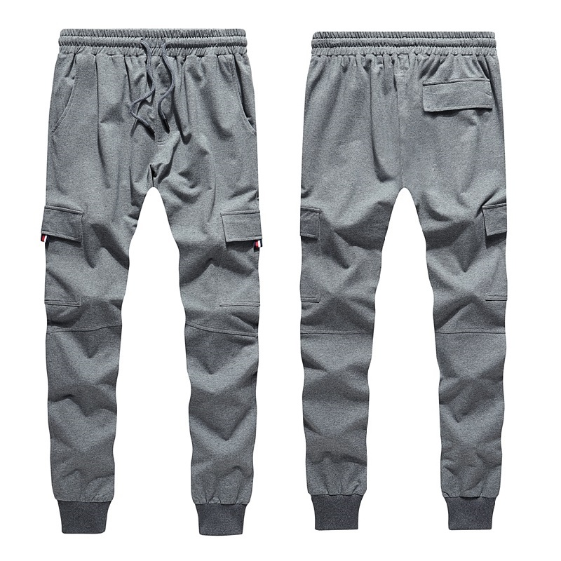 Printed Male Streetwear 2019 Narrow Feet Stripe Screen Print Sweatpants Men's Elastic Waist Track Pants Jogger Trousers Loose