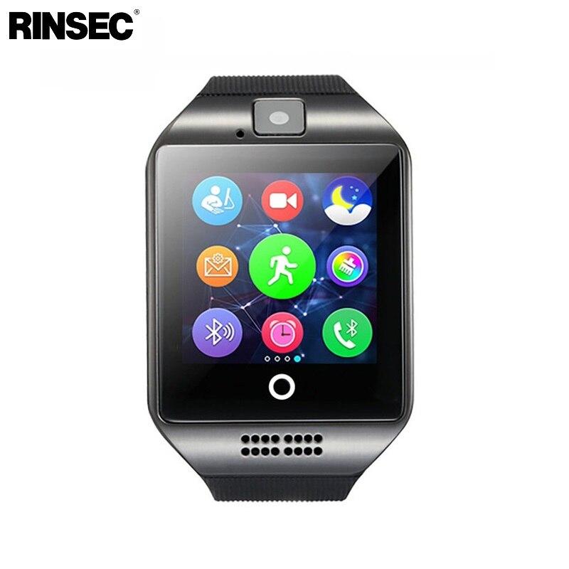 Q18 reloj inteligente con pantalla táctil soporte TF tarjeta Sim cámara para Android Teléfono Bluetooth Smartwatch PK Y1 DZ09