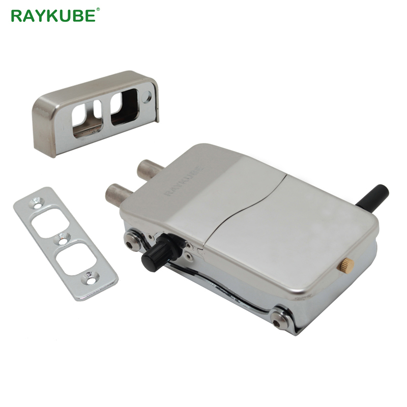 Image 3 - RAYKUBE Wireless Electronic Lock With Remote Control Keys Opening Invisible Intelligent Lock Wireless Keyless Door Lock R W39-in Electric Lock from Security & Protection