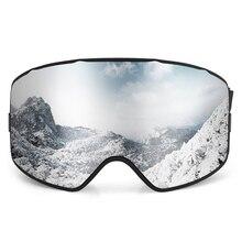 цена на UV400 Skiing Goggles OTG Snow Sports Goggles Anti-fog Snowboard Climbing Goggle Men Women Ski Glasses
