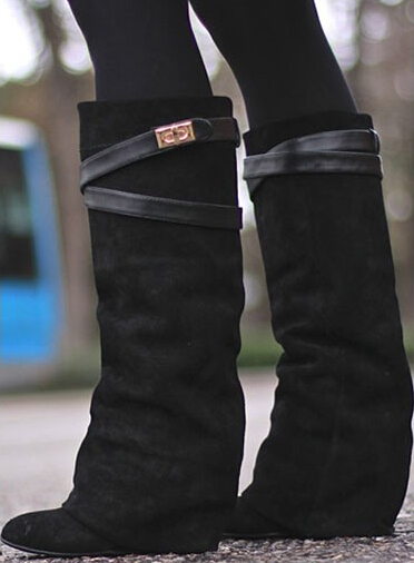concealed wedge boots