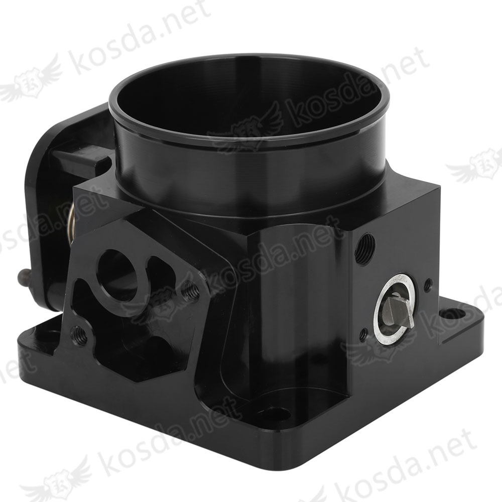 Performance Billet 75mm Throttle Body For 86-93 Ford Mustang GT Cobra LX 5.0 BLACK