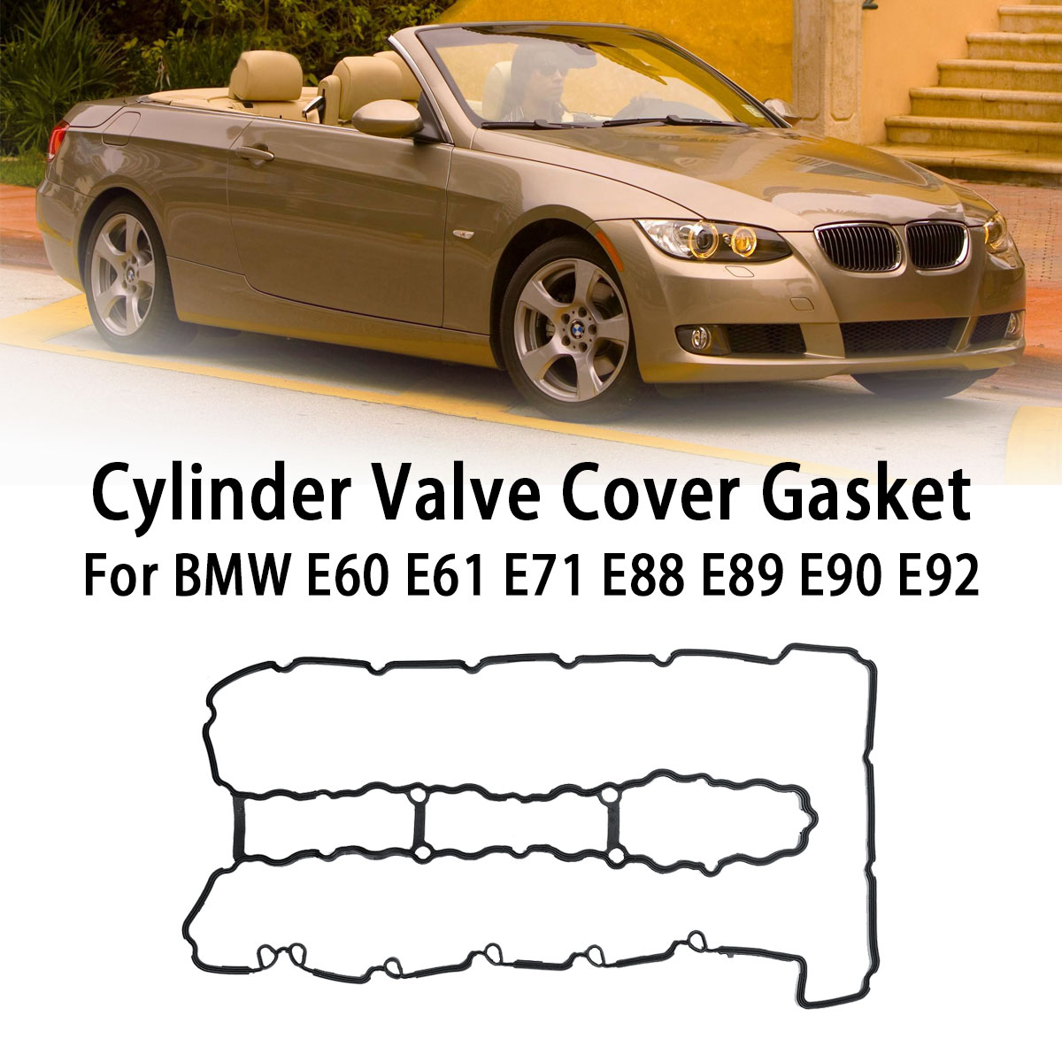 Car <font><b>Engine</b></font> Valve <font><b>Cover</b></font> Gasket 11127565286 For <font><b>BMW</b></font> E60 E71 E82 E83 E88 <font><b>E90</b></font> F01 F02 N54 135i 335i 335is 335xi 535i 2007-2013 image