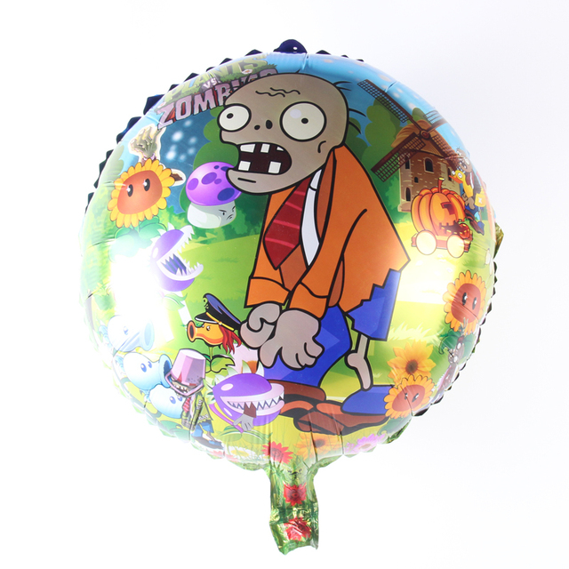 18inch plants vs zombies cartoon balloon aluminum foil balloons party decoration balloon celebration supplies