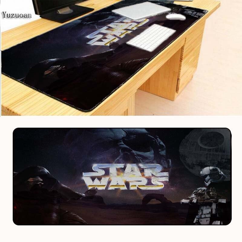 Yuzuoan Star Wars Logo Gaming Game keyboard Mouse Mats Large Lock Edge Pad For CSGO DOTA 2 Boys Gift Drop Shipping 400X900X3Mm