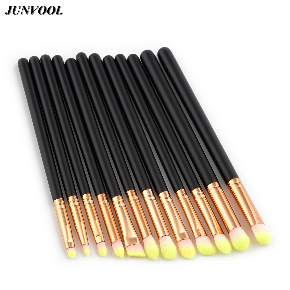 Eyes Shadow Foundation Eyebrow Lip Brush Professional 12Pcs Makeup Brushes Black Rose Gold Cosmetic Tool Make Up Eye Brushes Set 12pcs professional makeup brushes eye shadow foundation lip brush set cosmetic tool eye face cosmetic make up brush tool kit