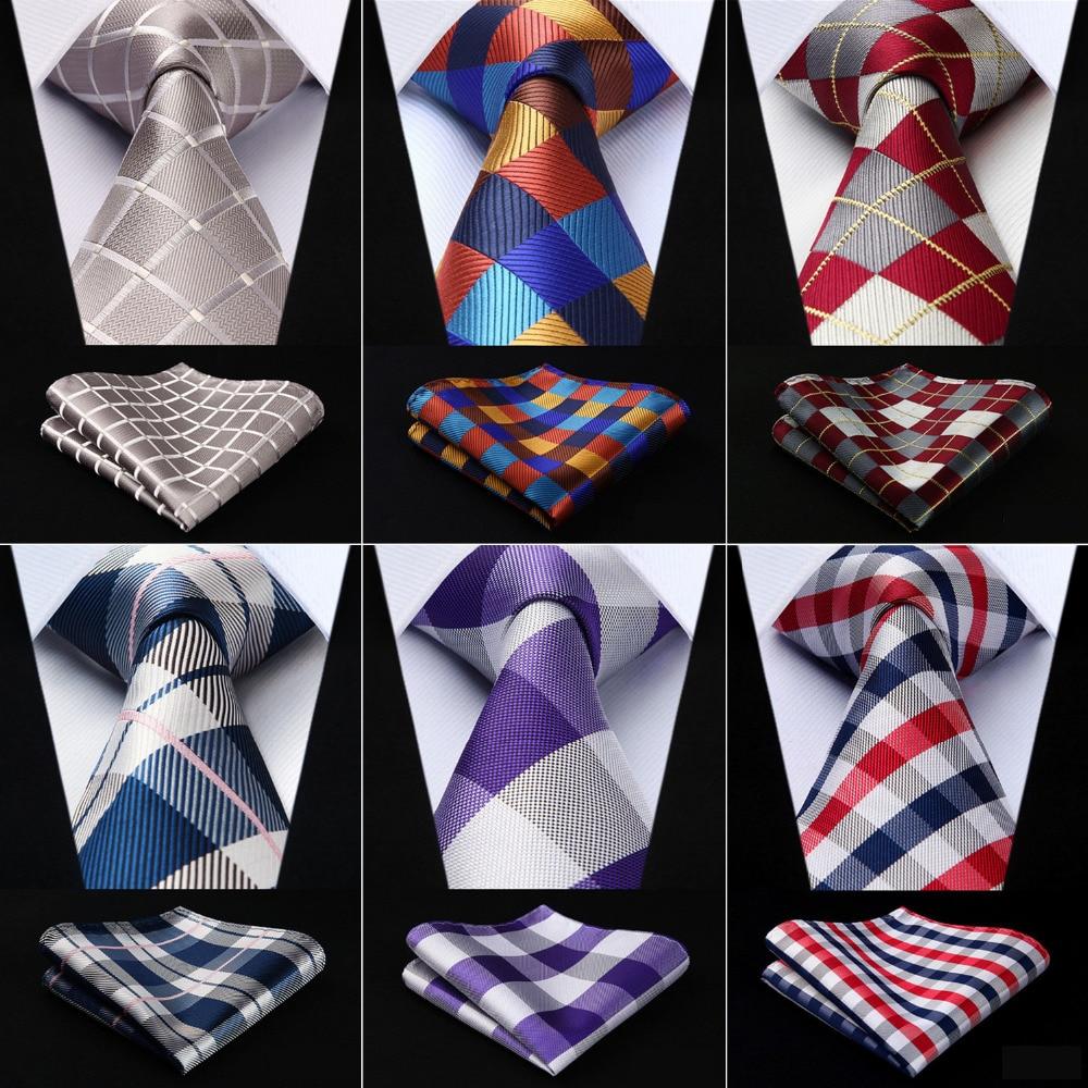 Men Extra Long Tie Check 3.4