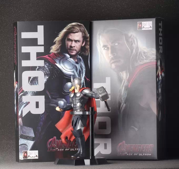 23cm Marvel Anime The Avengers Action Figures Thor Garage Kits with Beautiful Gift Box for Children Superhero Thor Model new hot 17cm avengers thor action figure toys collection christmas gift doll with box j h a c g