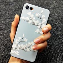 Style chinois fleur de Prunier étui pour iphone XS X 6 6S 6plus 7 7plus 8 xr pour iphone XS MAX couverture en relief peint Cas Fleurs