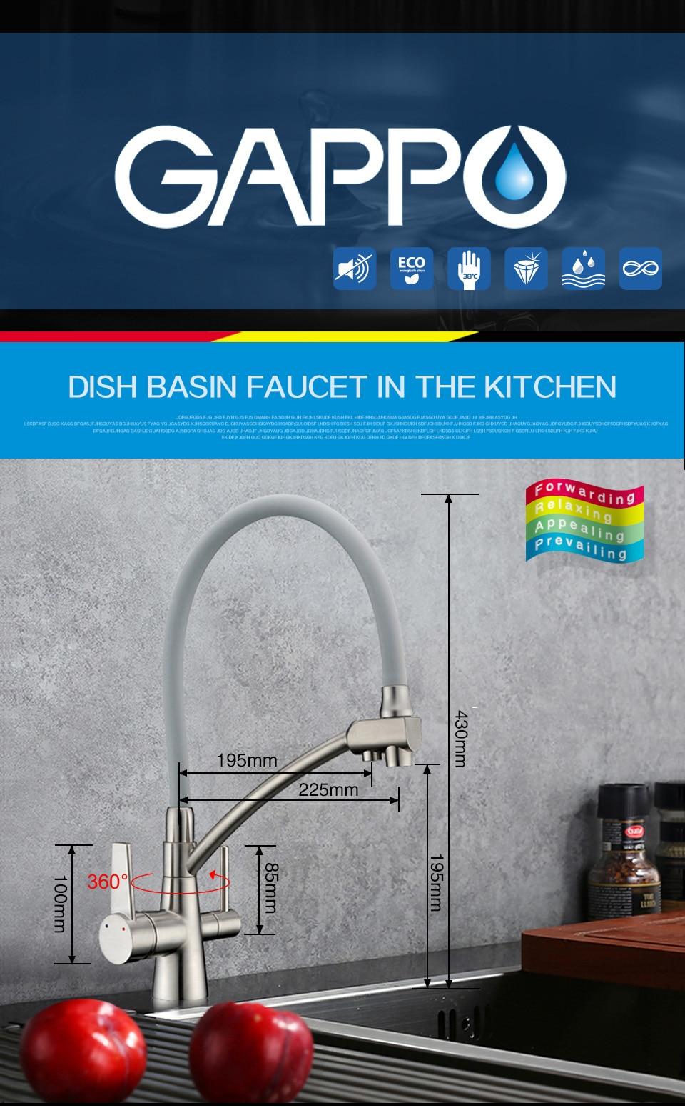 GAPPO wasserfilter wasserhähne küchenarmatur mixer küchenarmaturen ...