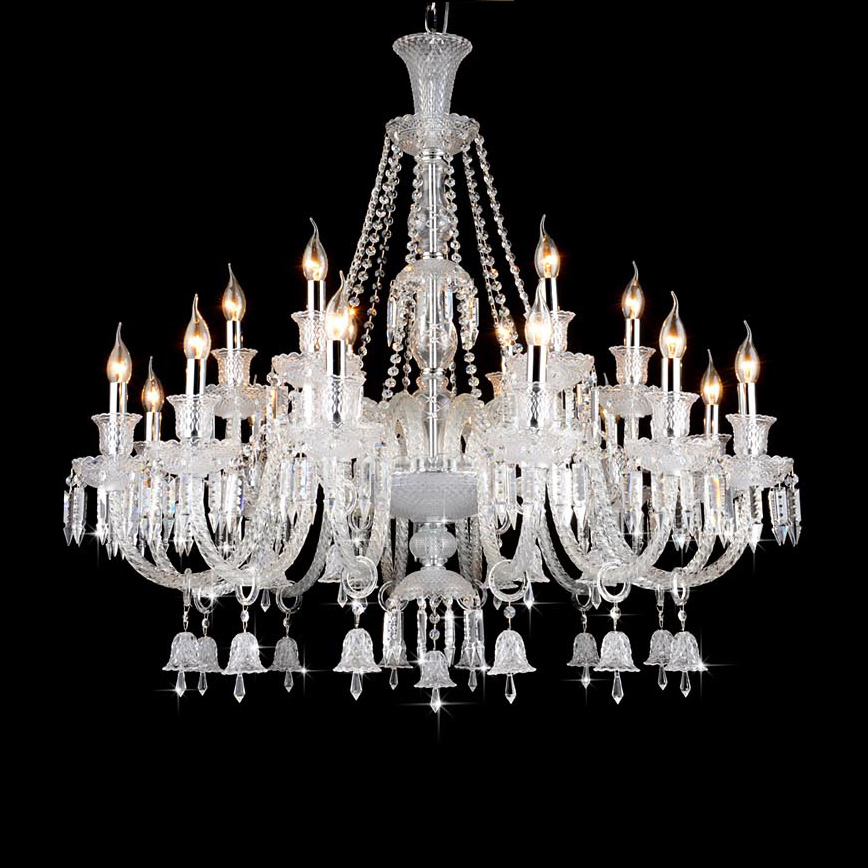 Home Lighting Luxury Modern Crystal Lighting Chandelier Glass Arms LED Candle Chandelier ...