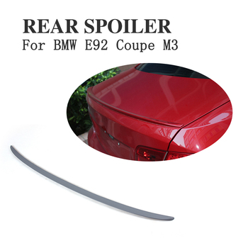 Rear Trunk Spoiler Boot Lip Wing For BMW 3 Series E92 Coupe M3 2007-2012 Unpainted PU Grey Primer image