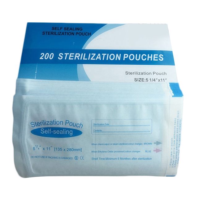 200pcs DENTAL SELF SEAL STERILIZATION POUCHES Sterilization135*280mm